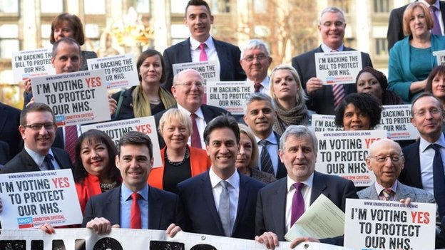 Labour MPs show their support for the bill on 19 November