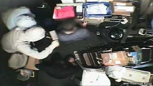 CCTV footage of robbery at Gusto, Cookridge
