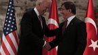 Joe Biden meets the Turkish Prime Minister, Ahmet Davutoglu