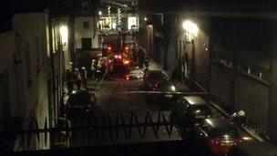 Hyatt Regency Hotel blast scene