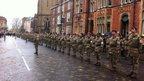 Army medics homecoming parade, York, November 2014