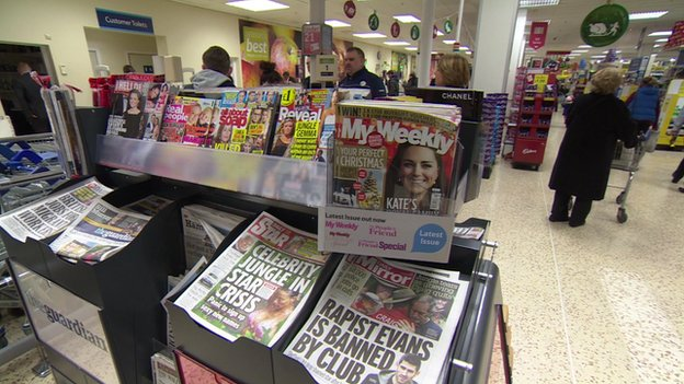 Supermarkets to hide tabloid front pages because of sexual content concerns
