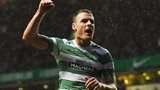 Anthony Stokes celebrates his goal for Celtic
