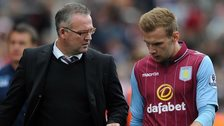 Aston Villa boss Paul Lambert with Andreas Weimann, the only player to score for Villa in the last seven league games