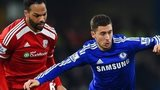 Eden Hazard and Joleon Lescott