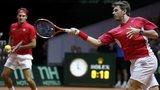 Roger Federer and Stan Warinka