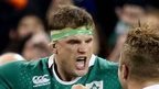 Jamie Heaslip celebrates after the final whistle