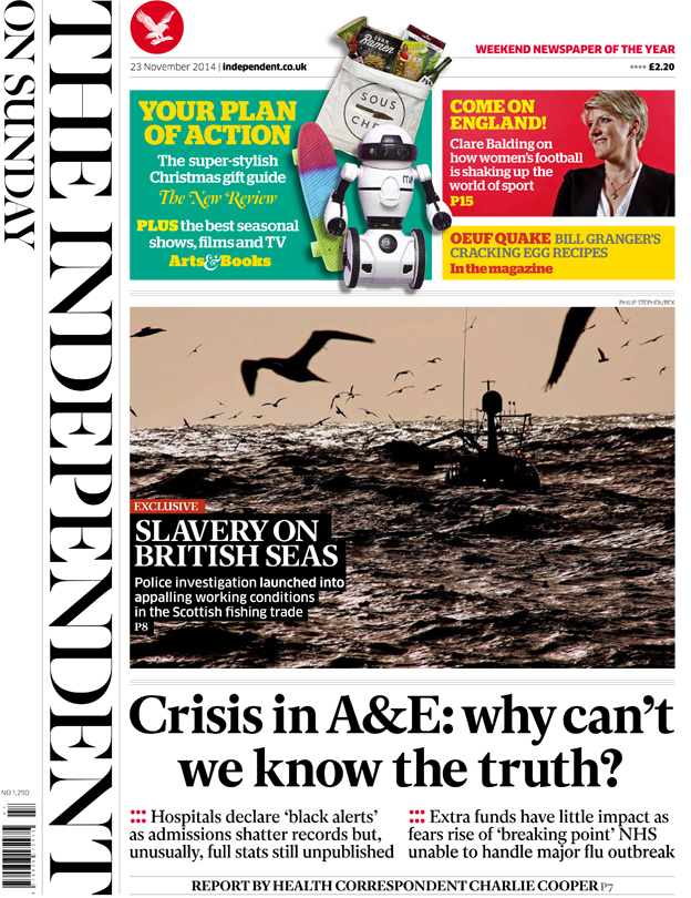 A&E 'crisis' and holiday 'joy' - front pages...