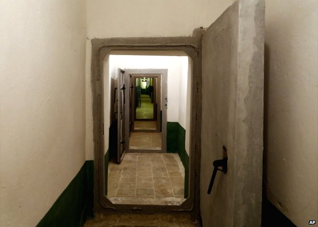 A long corridor in the bunker, built by late communist dictator Enver Hoxha, in Tirana, Albania - 22 November 2014
