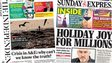Composite image of Independent on Sunday, and Sunday Express front pages