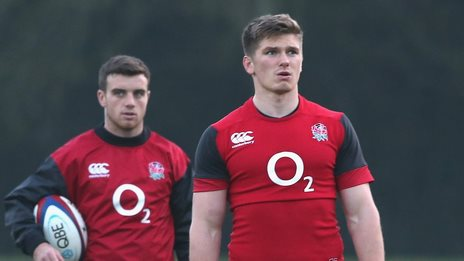 George Ford (left) and Owen Farrell