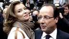 File photo of Francois Hollande and Valerie Trierweiler in 2012