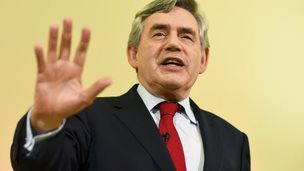 Former Prime Minister Gordon Brown speaks at a campaign event in favour of the union in Clydebank, Scotland, September 16