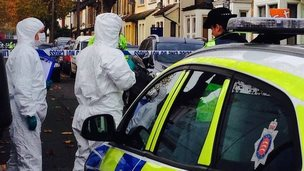 Forensic officers in St Anns Road Southend