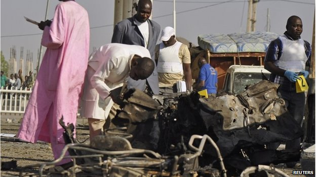 Aftermath of a Boko Haram attack in Kano state, 15 November 2014