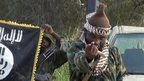 Boko Haram leader Abubakar Shekau with fighters. 31 Oct 2014