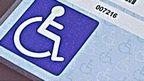 Blue disabled badge