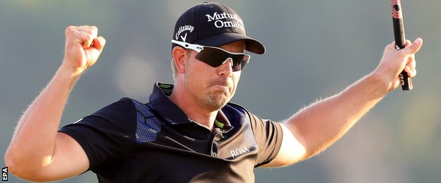 Henrik Stenson wins the World Tour Championship