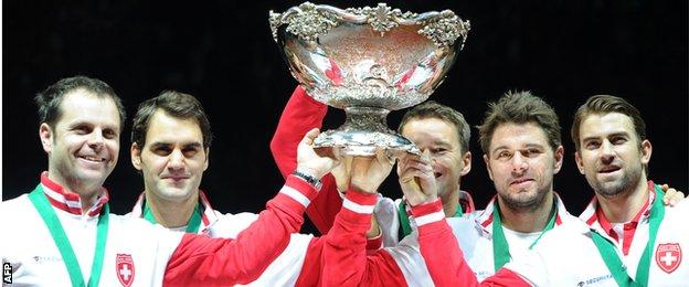 Swiss Davis Cup-winning team