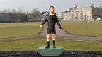 Mock-up of proposed Subbuteo referee sculpture