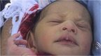 Newborn baby found in a drain