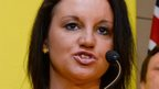 Senator Jacqui Lambie of the Palmer United Party (PUP) speaks during a press conference in Sydney on 10 October 2013.