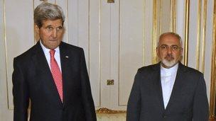 John Kerry and Minister Mohammad Javad Zarif, 23 Nov
