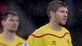 Liverpool's Steven Gerrard and Dejan Lovren