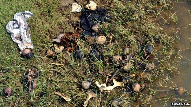 Skulls and bones found in Orissa
