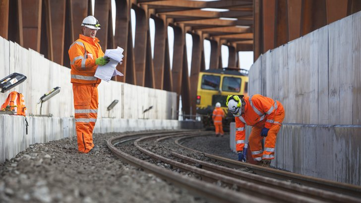 Tracks being laid at Stockley