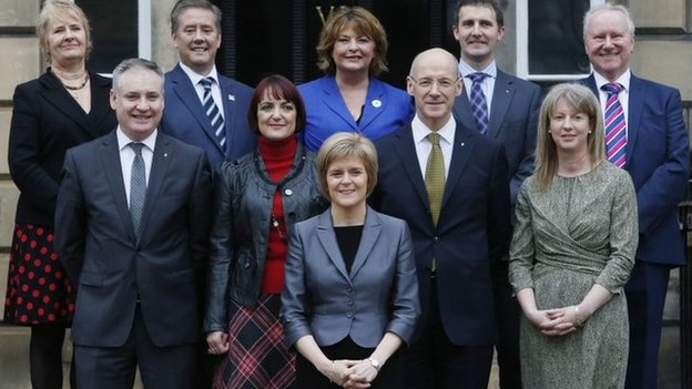Nicola Sturgeon's first cabinet