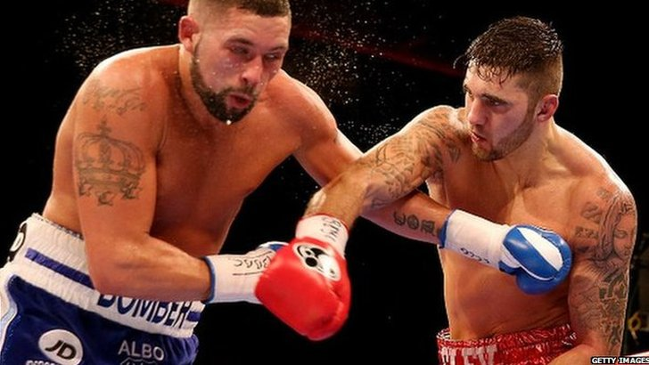 Nathan Cleverly's (R) defeat against Tony Bellew (L) was his second loss in 30 professional fights