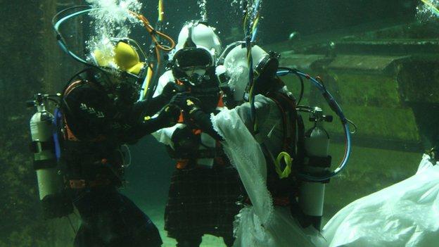 The underwater wedding