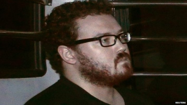 Rurik Jutting arrives at court in Hong Kong (24 Nov 2014)