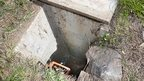 Drain where the baby was found