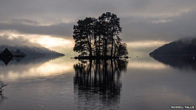 Mist moves over Loch Tay