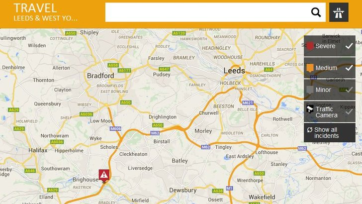 Severe delays around Brighouse