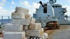 Drugs on deck of HMS Argyll. Pic: MoD