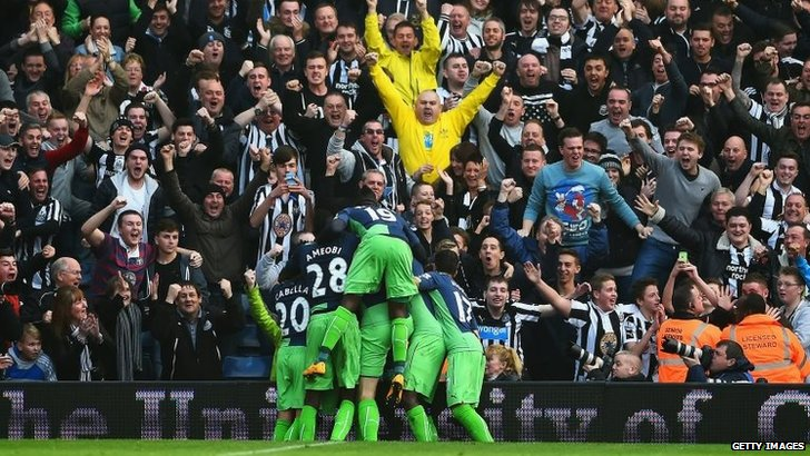 Newcastle fans at West Brom