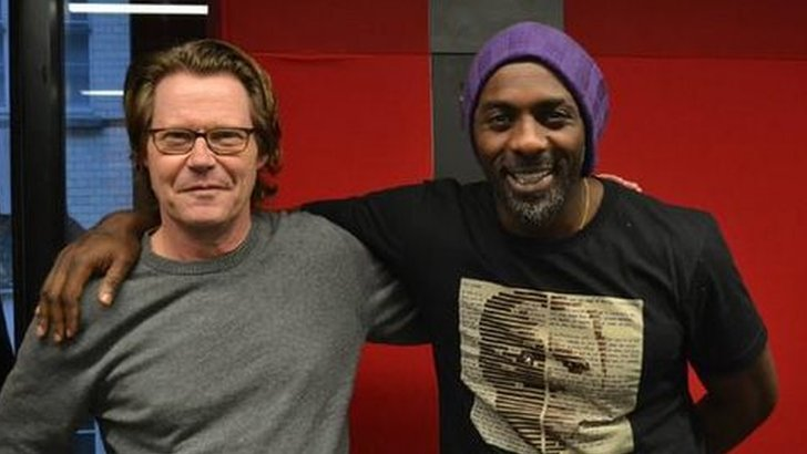 Robert Elms and Idris Elba