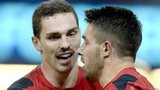 George North and Rhys Webb