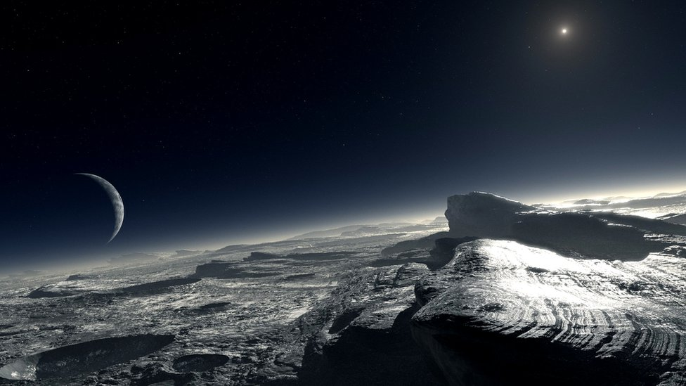 Artist's impression of Pluto