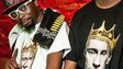 Two rappers with Putin tshirts
