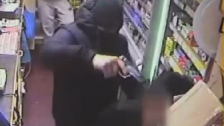 CCTV still of armed robbery in Derby