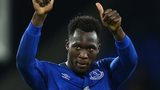 Romelu Lukaku gives a thumbs up