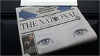 "The National newspaper in a letter box in Scotland, after it was launched to ""fly a vibrant flag for independence"""