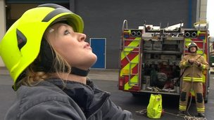 Woman firefighter