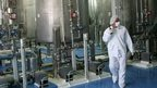 File photo: Iranian technicians are seen at the Isfahan Uranium Conversion Facilities (UCF), 420 km south of Tehran, 08 August 2005