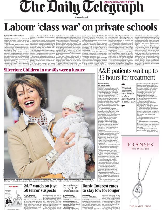 'Class war on private schools'...