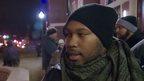 Aleem Maqbool and Ferguson protestor